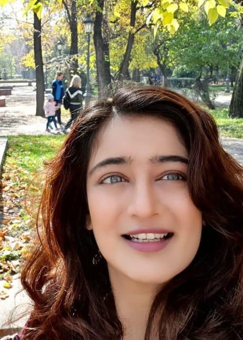 Akshara Haasan in an Instagram selfie as seen in October 2019
