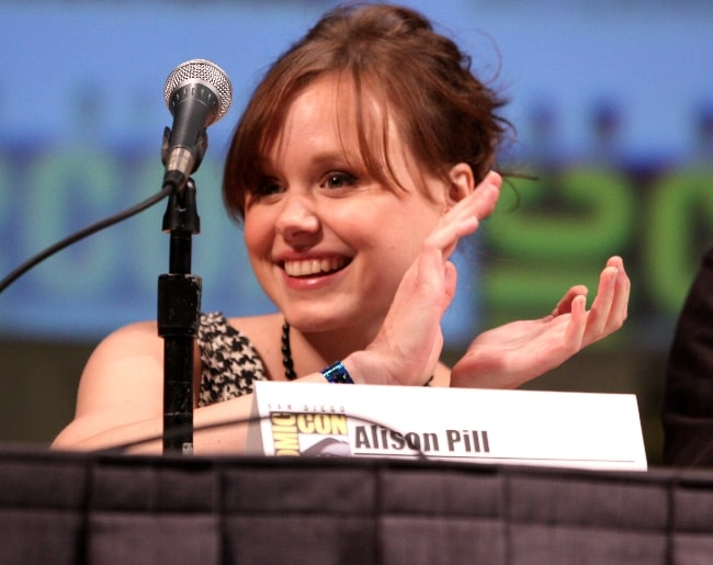Alison Pill as seen on the 'Scott Pilgrim vs. the World' panel at the 2010 San Diego Comic Con in San Diego, California, United States in July 2010