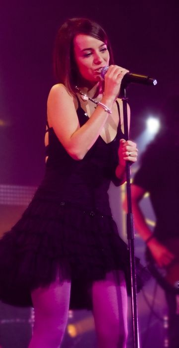 Alizée performing at the VIP W9 LIVE concert in Strasbourg, France in January 2008
