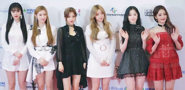 All the (G)I-dle members as seen at Dream Concert on May 18, 2019