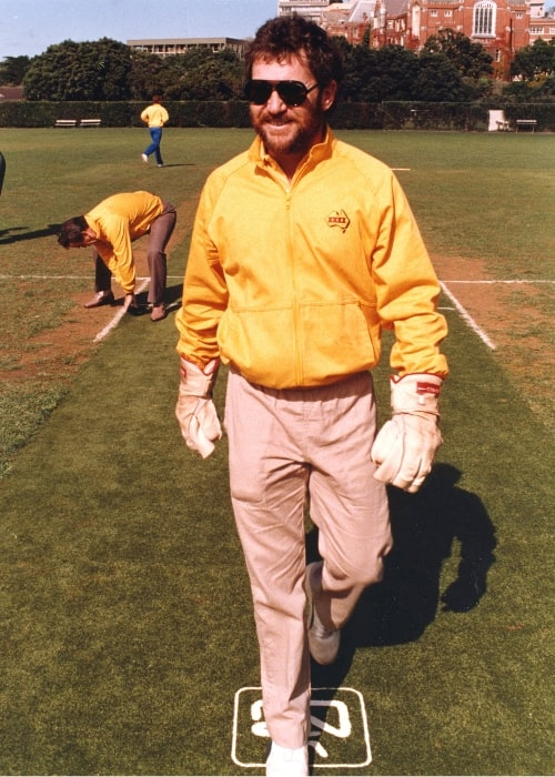 Allan Border as seen in a picture taken at Victoria University Wellington in 1986