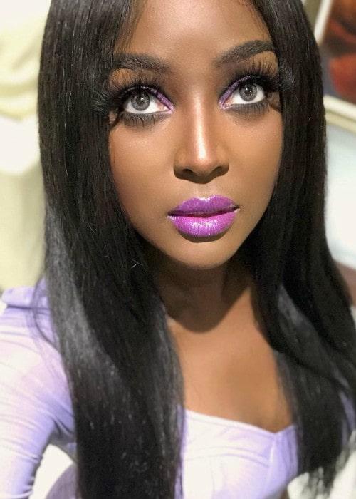 Amara La Negra in an Instagram selfie as seen in May 2019