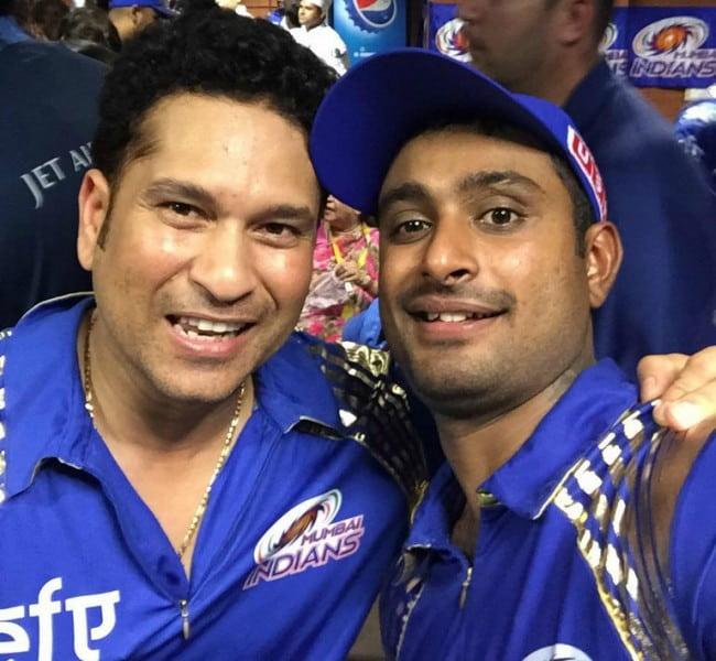 Ambati Rayudu (Right) and Sachin Tendulkar in a selfie in May 2015