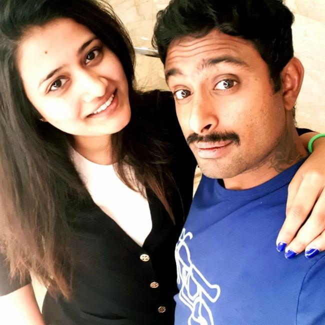 Ambati Rayudu and Chennupalli Vidya in a selfie in September 2018