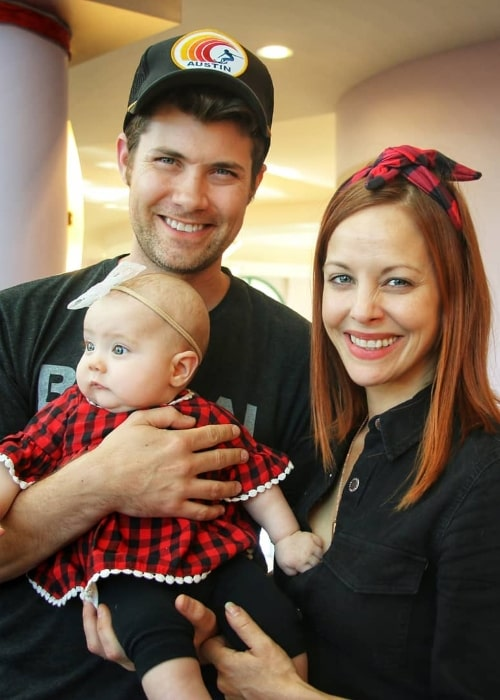 Amy Paffrath as seen in a holiday picture with her family at Delmar Gardens Family in December 2019