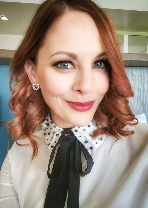 Amy Paffrath as seen while taking a selfie in December 2019