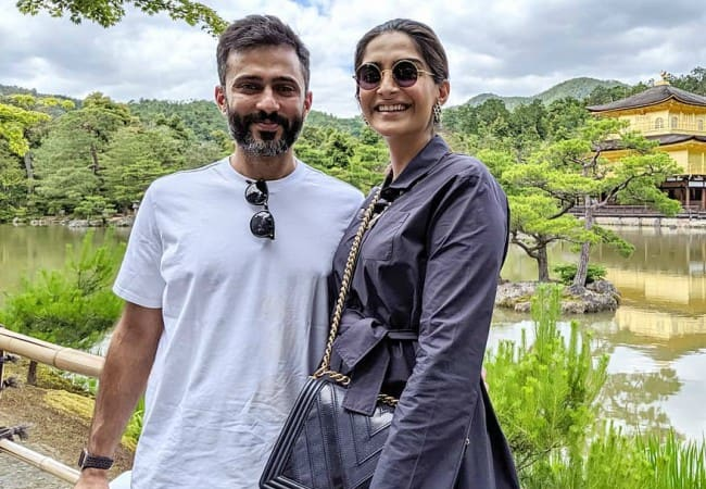 Anand Ahuja and Sonam Kapoor as seen in June 2019