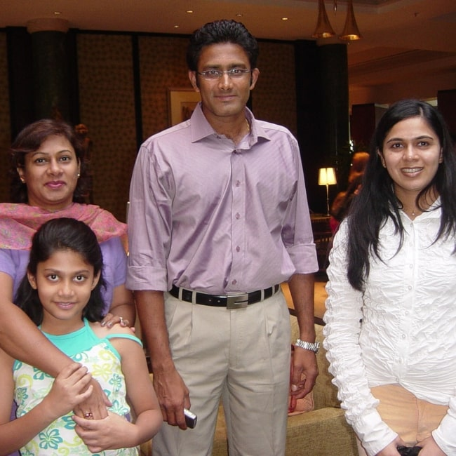 Anil Kumble as seen in a picture with his family taken on March 26, 2006