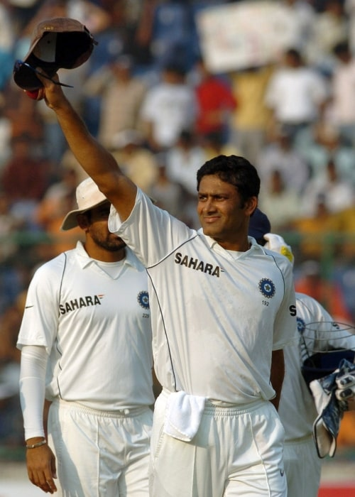 Anil Kumble in a picture taken on the last day of the 3rd Cricket Test match between India & Australia on November 2, 2008 before he retired from International Cricket