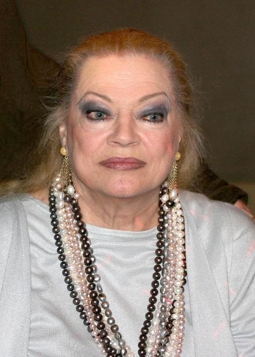 Anita Ekberg as seen in March 2007