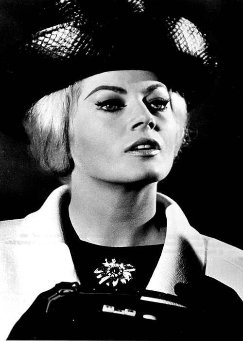 Anita Ekberg as seen in the publicity photo for 'The Alphabet Murders'