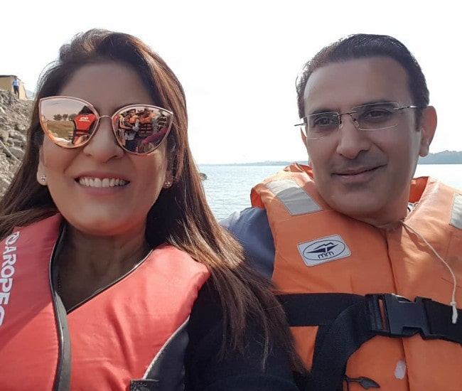 Archana Puran Singh and Parmeet Sethi in a selfie as seen in January 2019