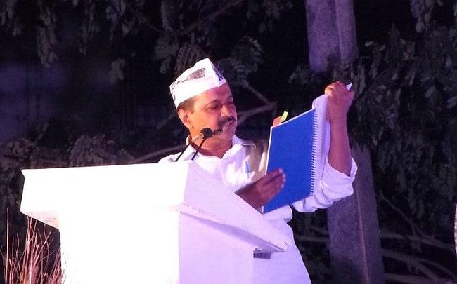 Arvind Kejriwal at Cuncolim Goa as seen in December 2016