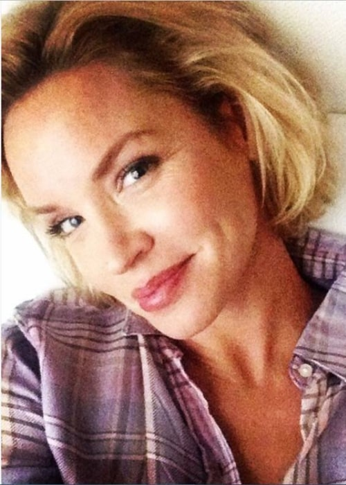 Ashley Scott as seen in a selfie taken in February 2018 in Los Angeles, California