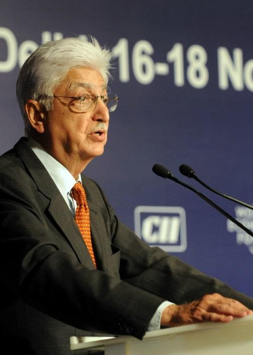 Azim Premji at the World Economic Forum's India Economic Summit 2008 in New Delhi