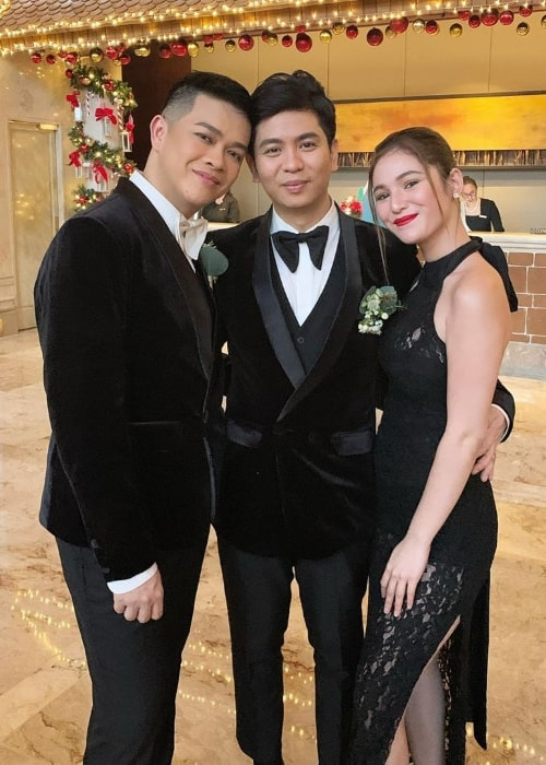 Barbie Imperial as seen while posing for a picture along with Myrrh Lao To and Koko Gonzales (Center) at The Peninsula Manila in Metro Manila, Philippines in November 2019