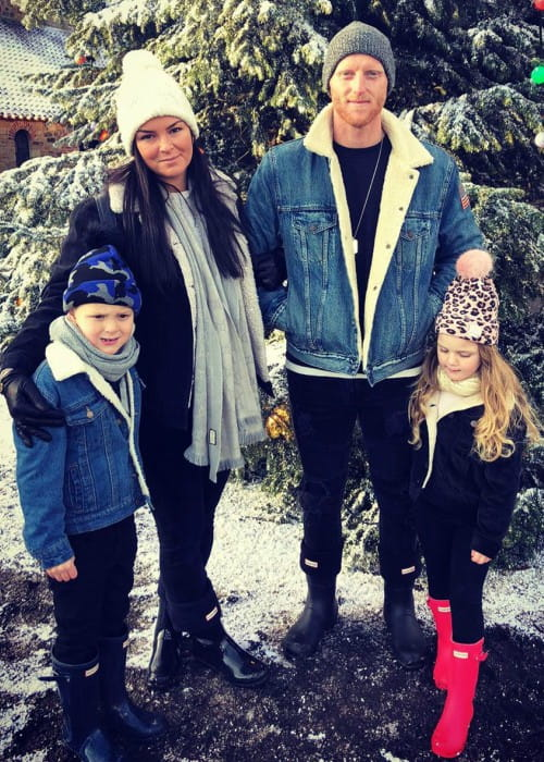 Ben Stokes with his family as seen in December 2019