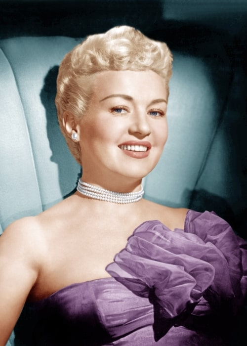 Betty Grable as seen in a picture taken in the 1950s