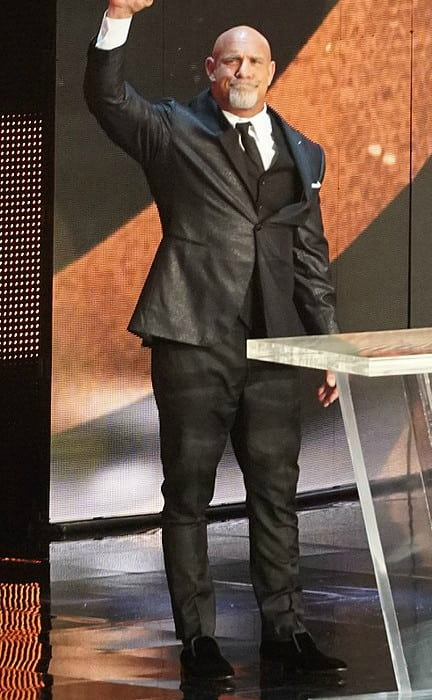 Bill Goldberg being inducted into the WWE Hall of Fame in April 2018
