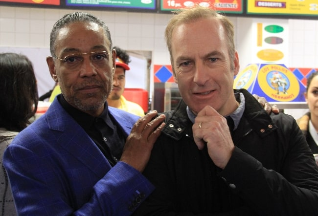 Bob Odenkirk (Right) as seen in a picture along with Giancarlo Esposito in March 2017