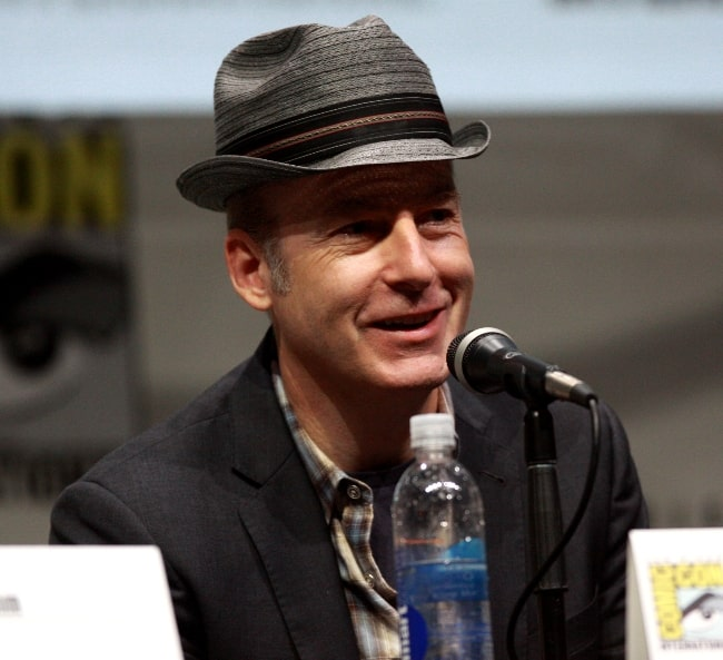 Bob Odenkirk as seen while smiling and speaking at the 2013 San Diego Comic Con International, for 'Breaking Bad', at the San Diego Convention Center in San Diego, California, United States