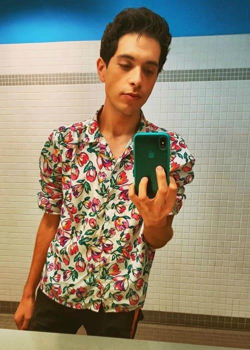 Brandon Rogers in an Instagram selfie as seen in October 2019