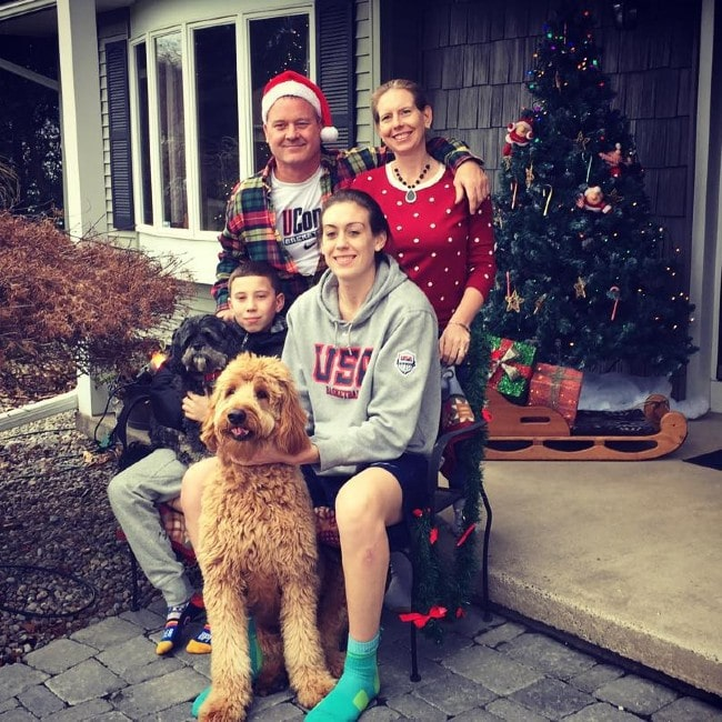 Breanna Stewart with her family as seen in December 2015