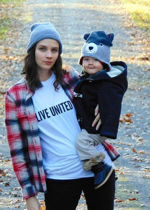 Brittani Kline with her son as seen in November 2018