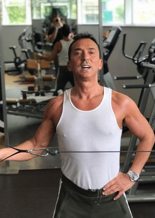 Bruno Tonioli as seen in a picture taken while working out at the gym in September 2019