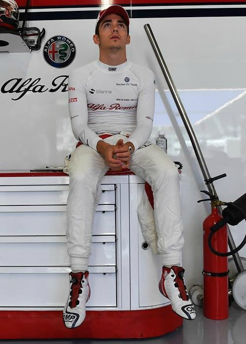 Charles Leclerc in an Instagram post as seen in October 2018