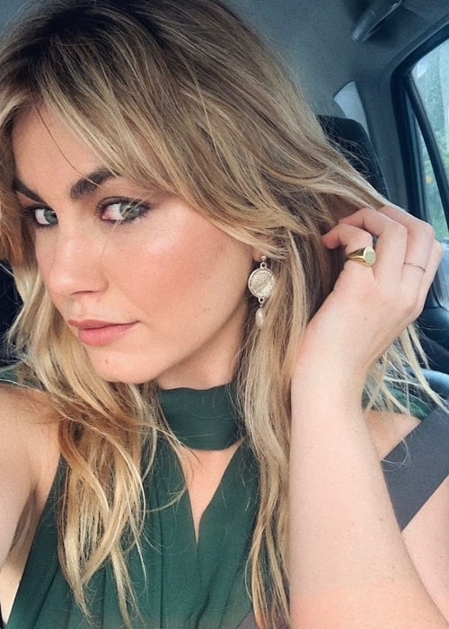 Charlotte Best as seen while taking a car selfie in December 2019