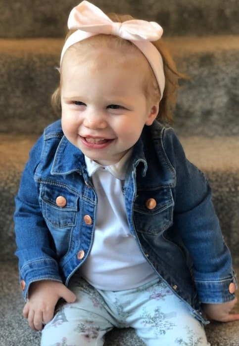 Chloe Conder as seen while smiling in a picture in April 2019