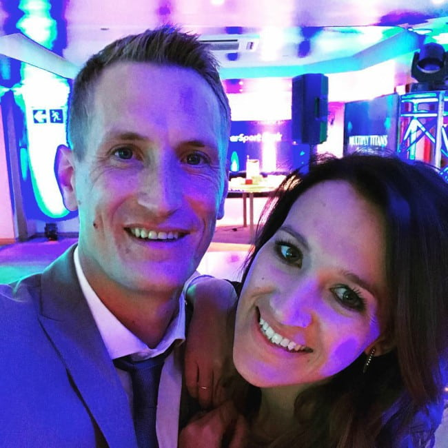 Chris Morris and Lisa Oosthuizen in a selfie as seen in August 2017