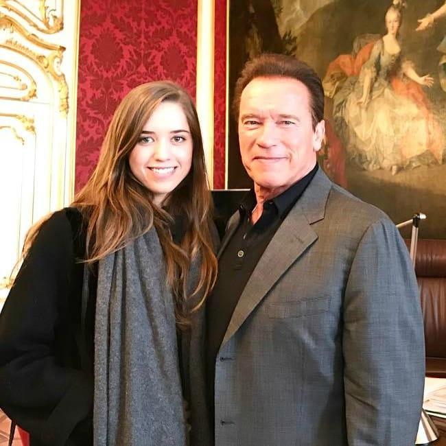 Christina Schwarzenegger and Arnold Schwarzenegger as seen in March 2017
