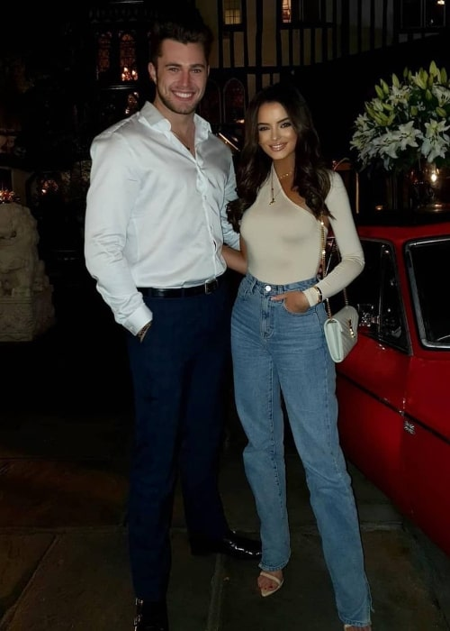 Curtis Pritchard as seen in a picture taken with his beau Maura Higgins at the Sheesh Restaurant, Chigwell in October 2019