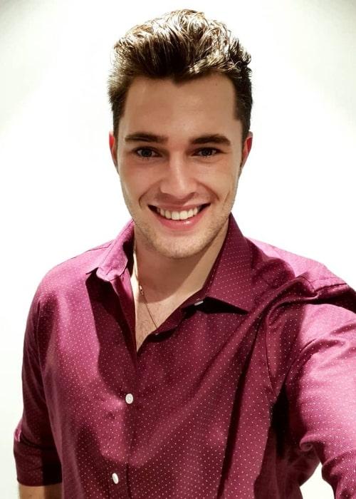 Curtis Pritchard as seen in a selfie taken in October 2019