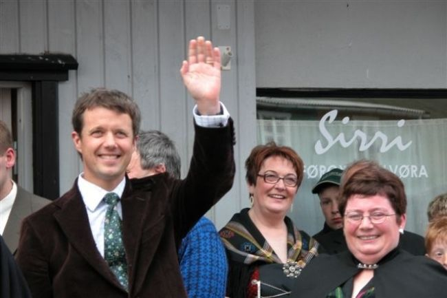 Danish Crown Prince Frederik seen in Vágur, Faroe Islands in 2005