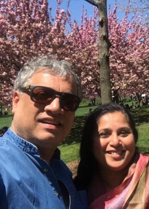 Derek O'Brien as seen in a selfie taken with wife Dr. Tonuca Basu in New York City in October 2019
