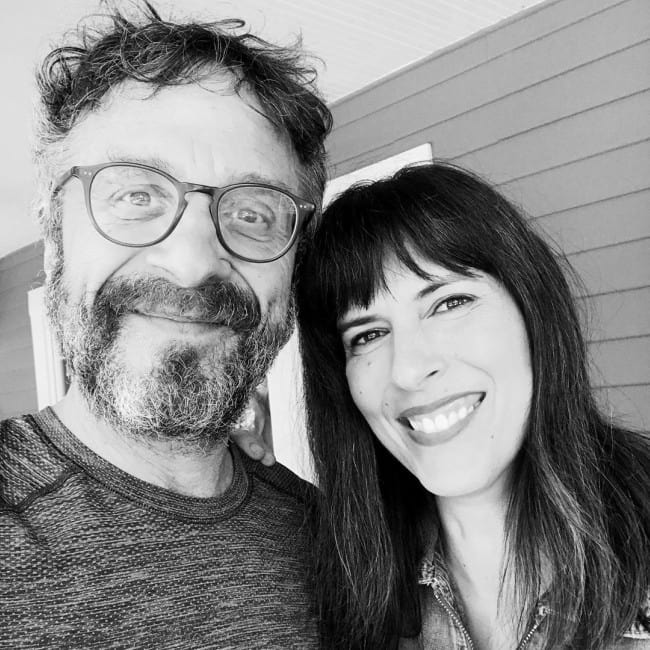 Edi Patterson and Marc Maron in a selfie in September 2019