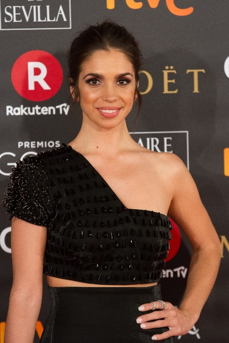 Elena Furiase as seen while posing for a picture at 32nd Goya Awards in February 2018