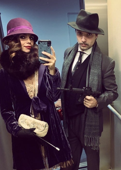 Elena Furiase as seen while taking a mirror selfie along with Gonzalo Sierra in October 2019