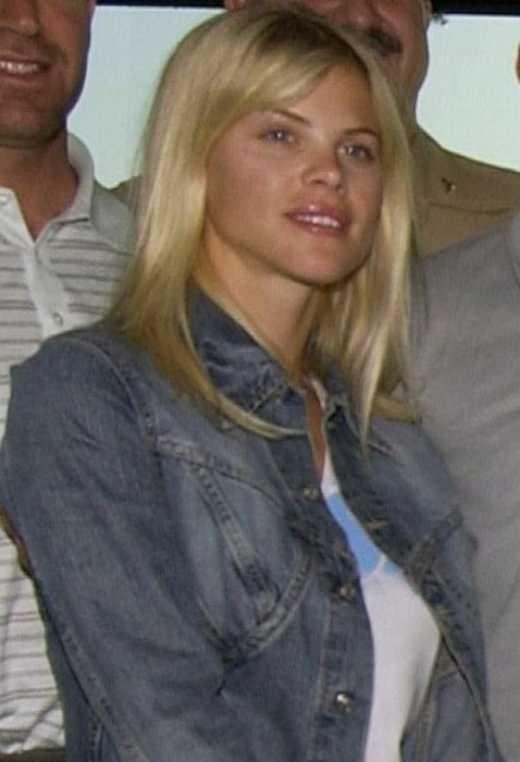 Elin Nordegren pictured while touring the USS George Washington (CVN 73) in the Persian Gulf in March 2003