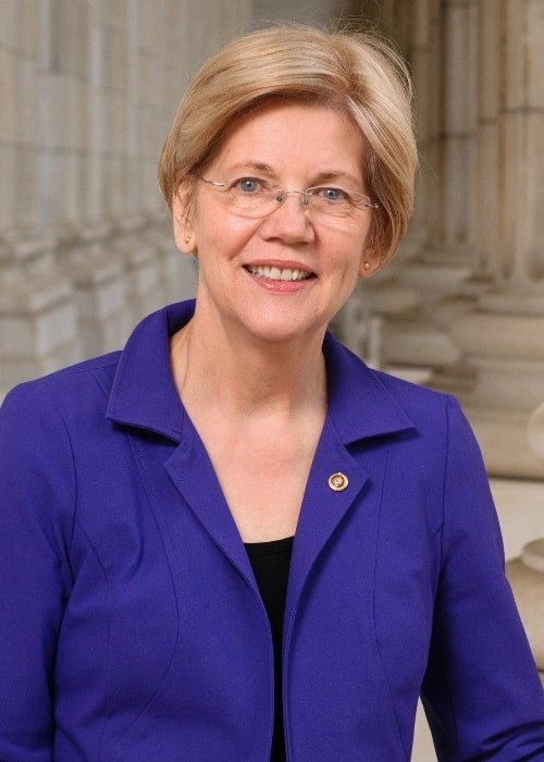 Elizabeth Warren as seen in her official portrait