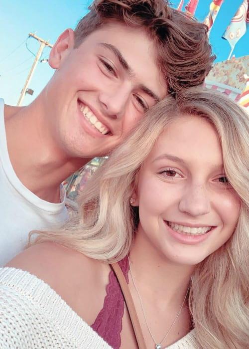 Ellie Vandeel and Grant Marshall in a selfie in August 2019