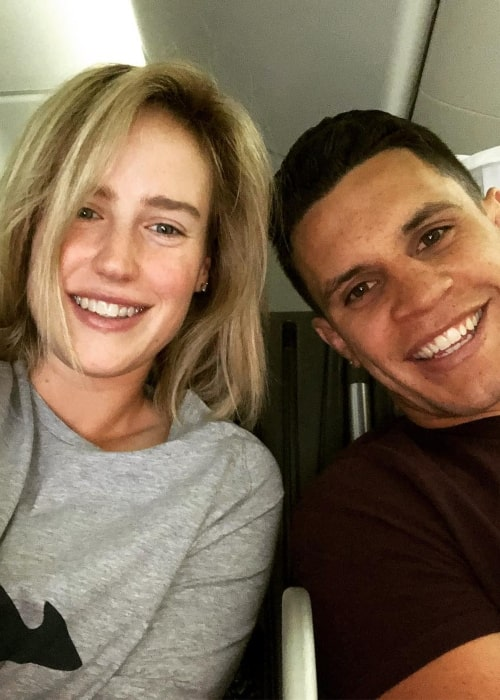 Ellyse Perry as seen in a selfie with her husband Australian rugby player Matt To'omua in June 2018