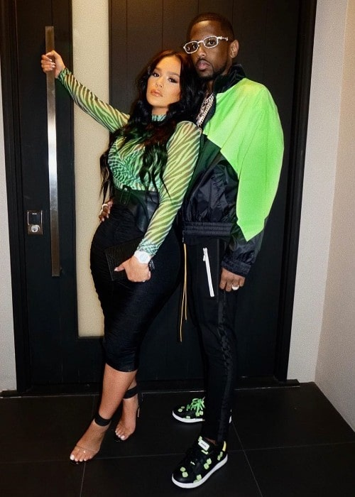 Emily Bustamante with her boyfriend Fabolous as seen in October 2019