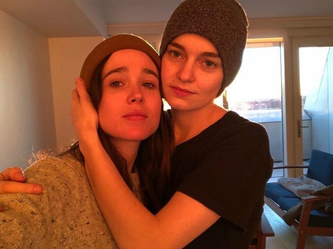 Emma Portner (Right) and Ellen Page in a selfie in May 2019