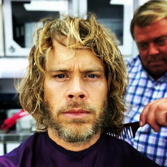 Eric Christian Olsen in an Instagram selfie as seen in August 2019