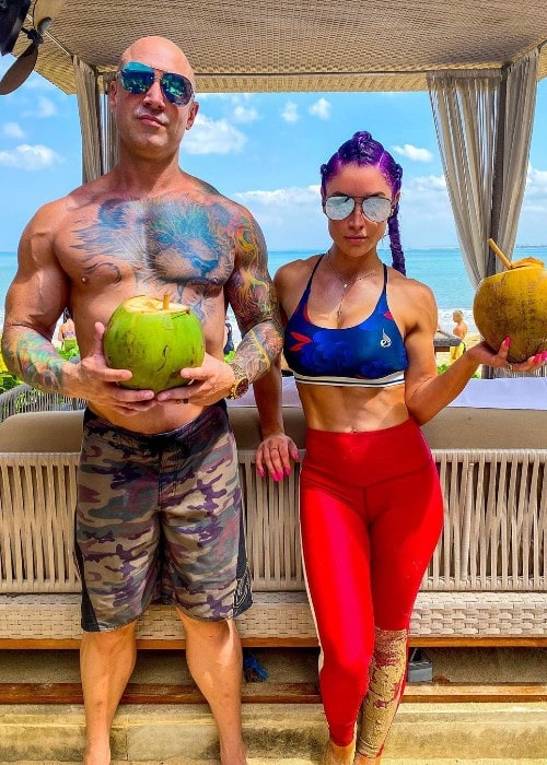 Eva Marie with her husband Jonathan Coyle as seen in October 2019