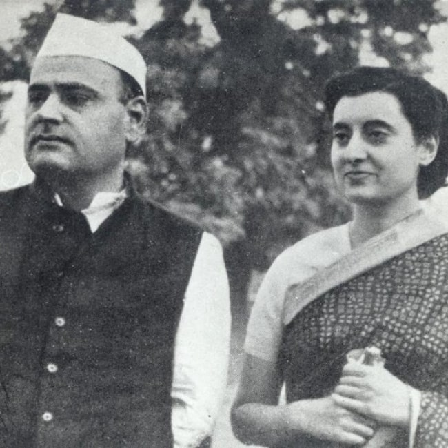 Feroze Gandhi in a picture with his wife Indira Gandhi in a picture that was taken before the 1950s